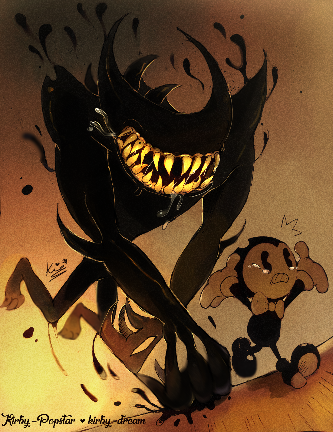 forgottentoonau Vs Beast Bendy Who would win A Giant and 1100x1425