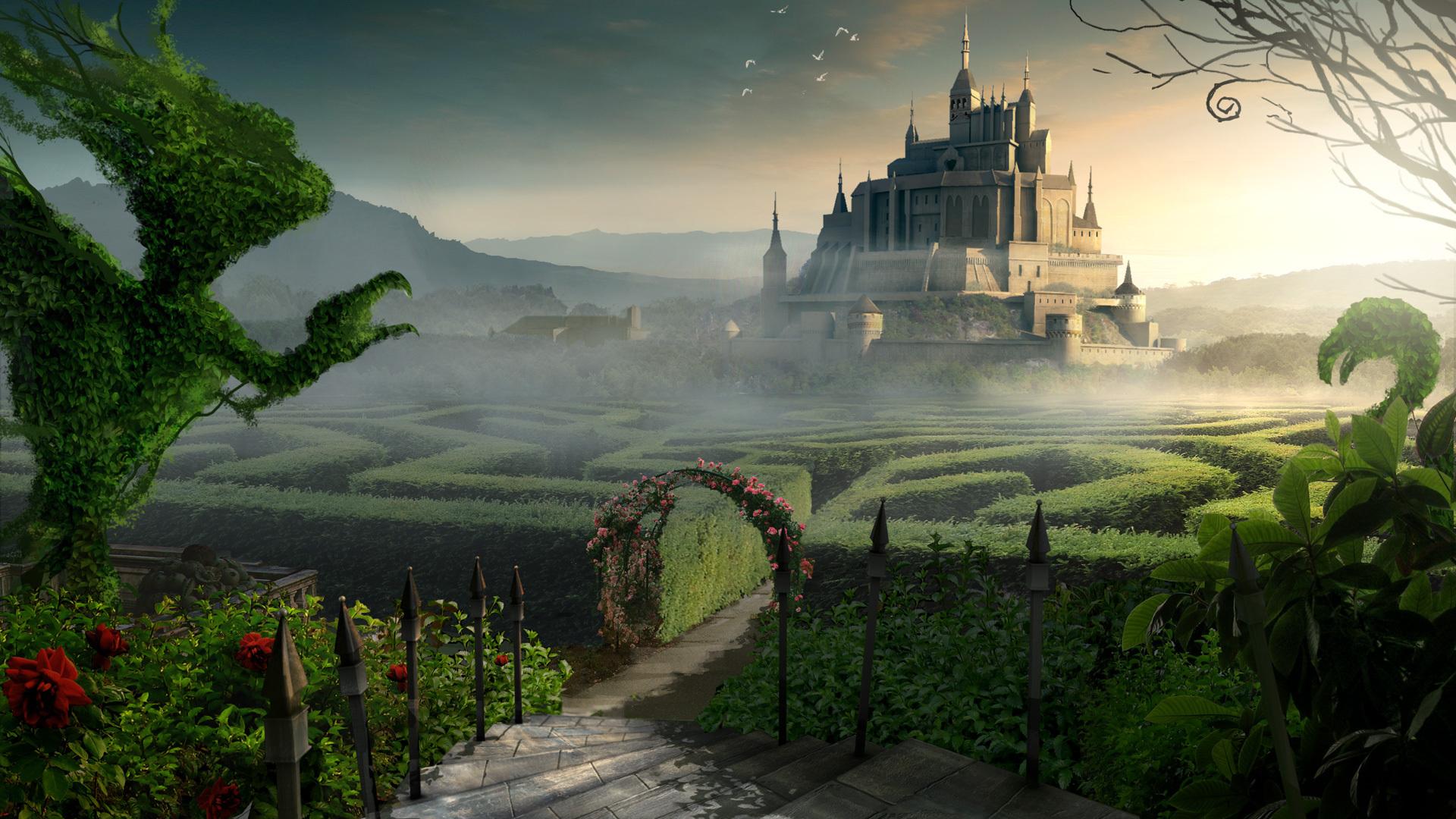 Alien landscape wallpaper wallpapersafari for Paesaggi fantasy immagini