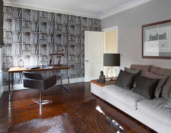 Wallpaper That Looks Like Books   Luvnecom   Best Interior Design 600x468