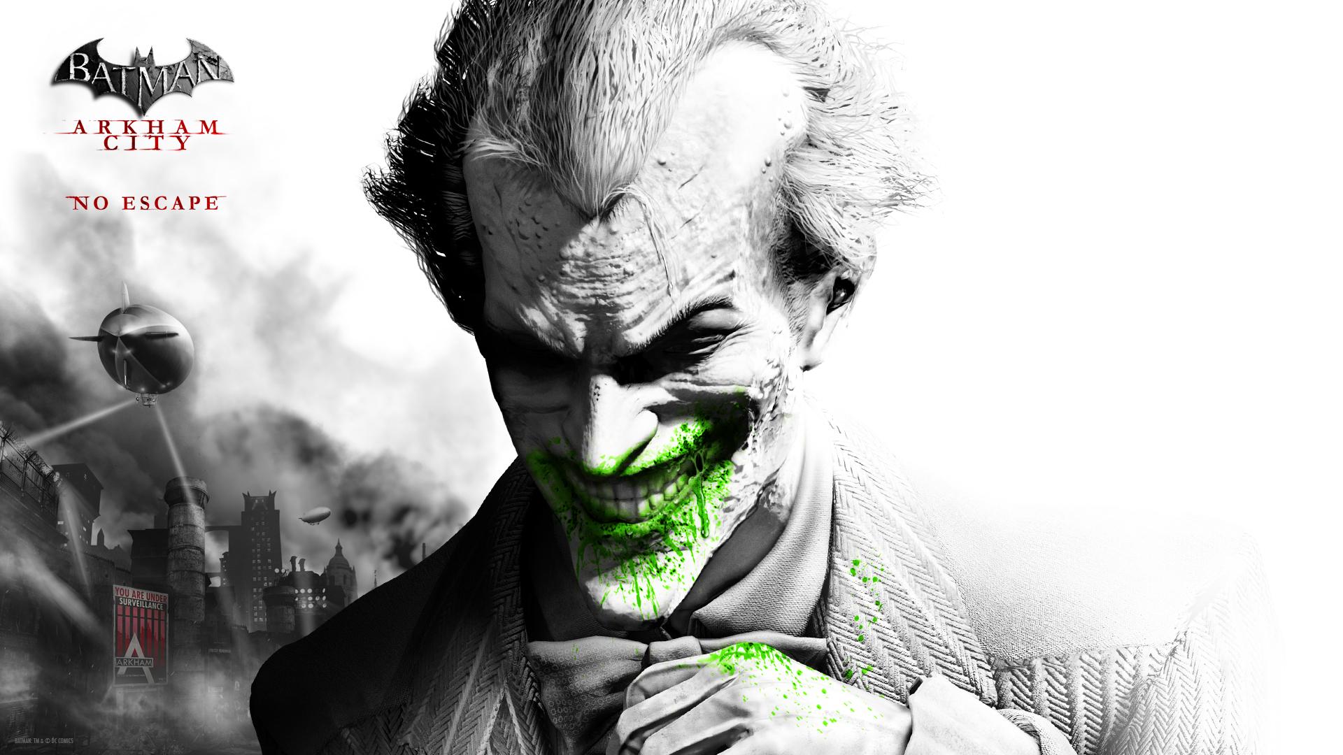 Joker arkham city wallpaper wallpapersafari for Desktop joker