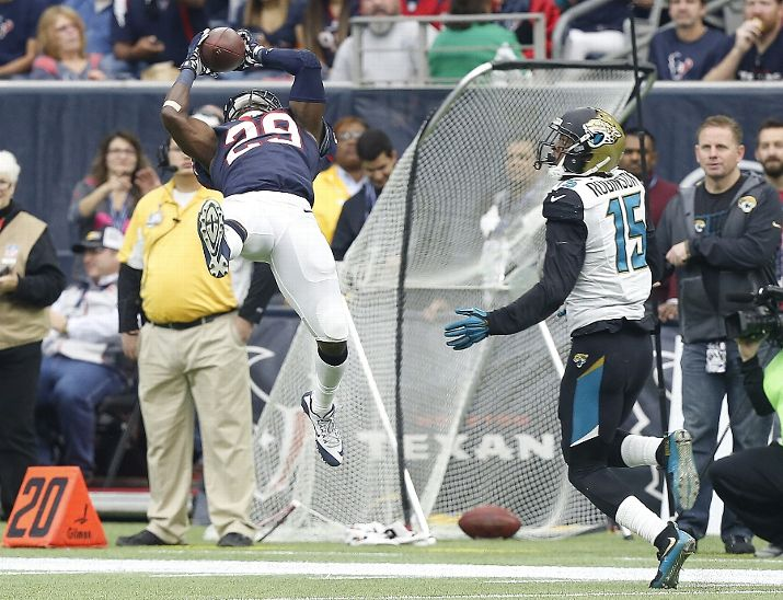 houston tx january 03 andre hal 29 of the houston texans makes a catch 715x548