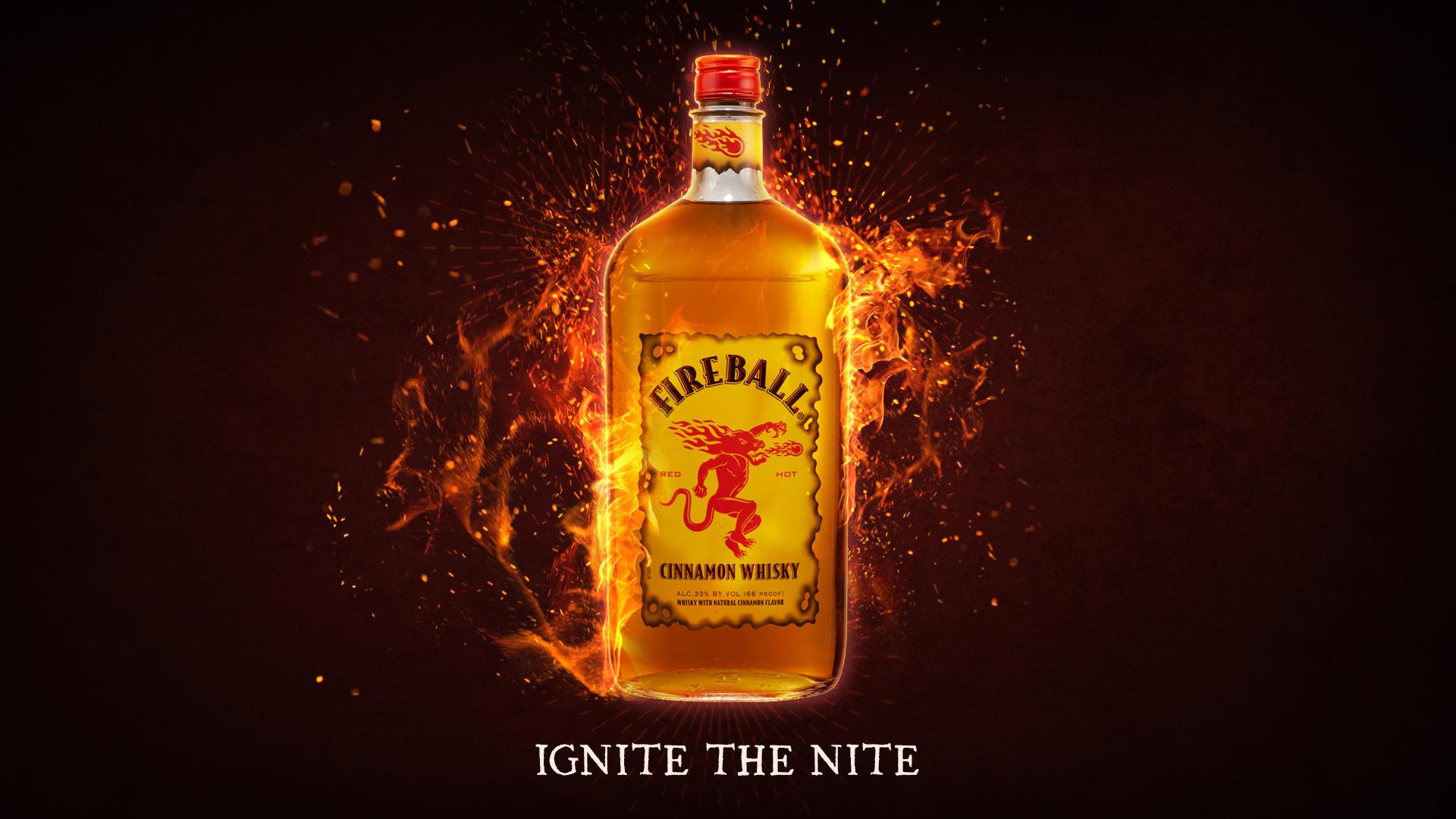 Fireball Whisky Desktop Wallpaper 66394 1920x1080px 1920x1080