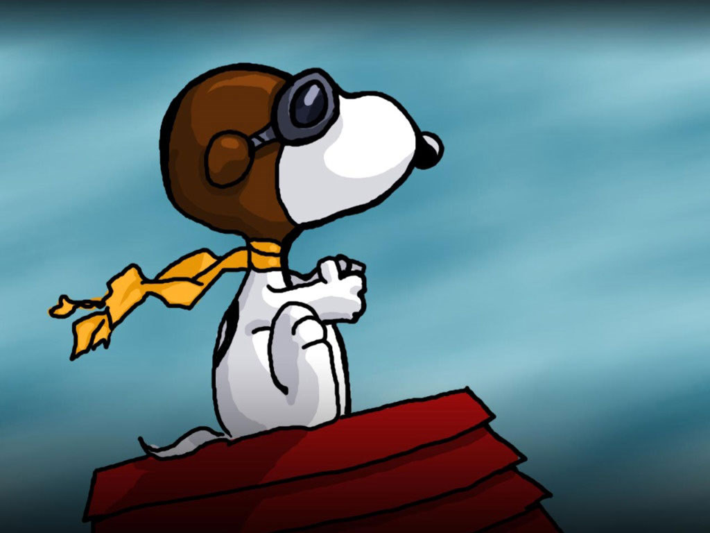 Wallpaper Snoopy Aviador 1024x768