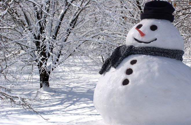 Snowmen are the mayors of many a winter scene 660x433