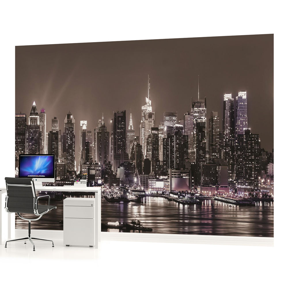 New York City Skyline Urban PHOTO WALLPAPER WALL MURAL PICTURE 1311P 1000x1000