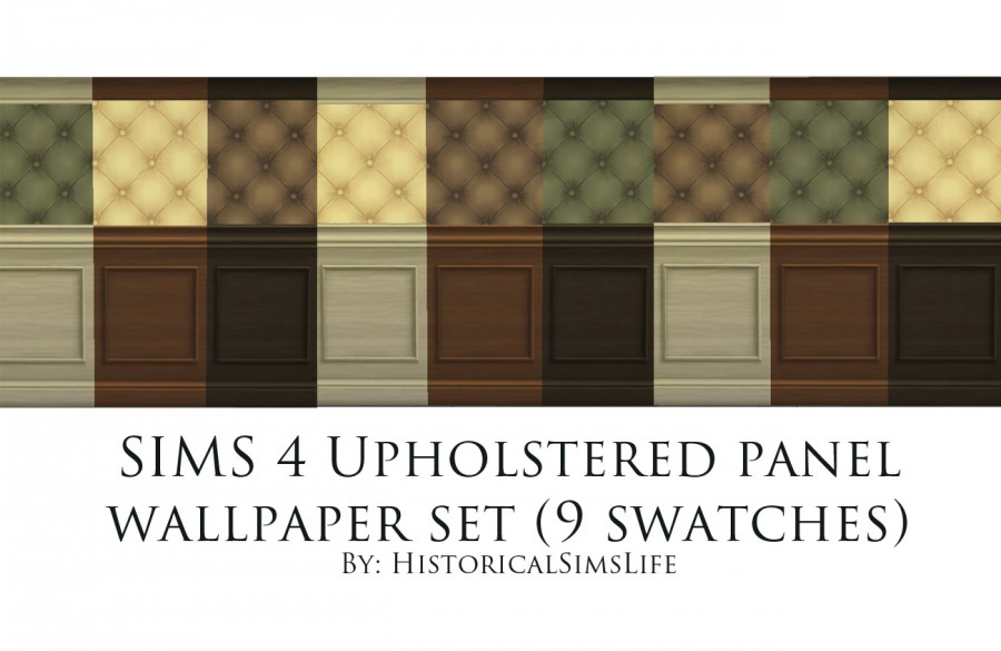 SIMS 4 Upholstered Wood Panel Set senectutum sims LiveJournal 900x585
