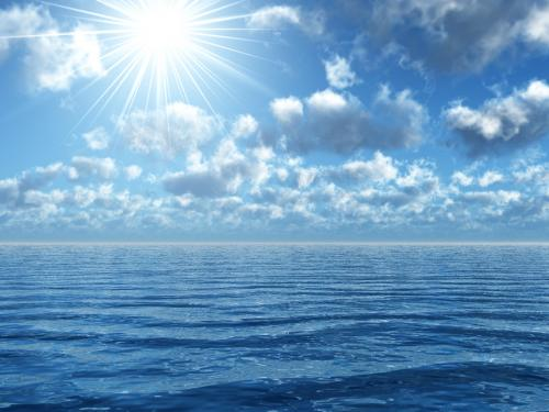 Ocean Scene Wallpaper Credited 500x375