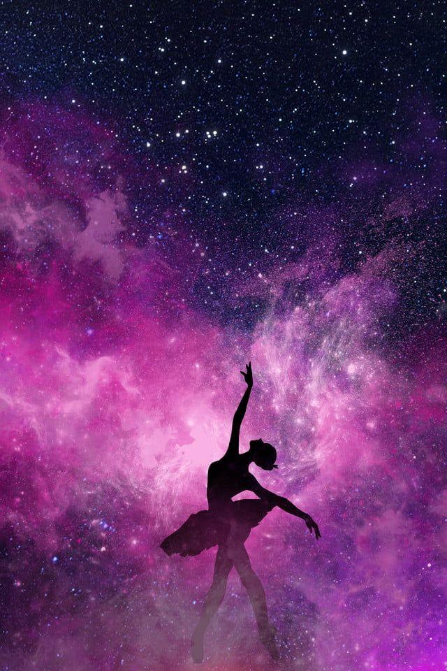 Dance Training Dancer Blue Starry Gradient Background Dance 640x960