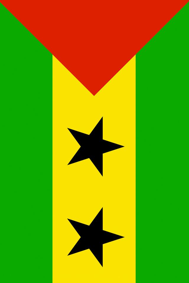 Sao Tome and Principe Flag iPhone Wallpaper HD 640x960