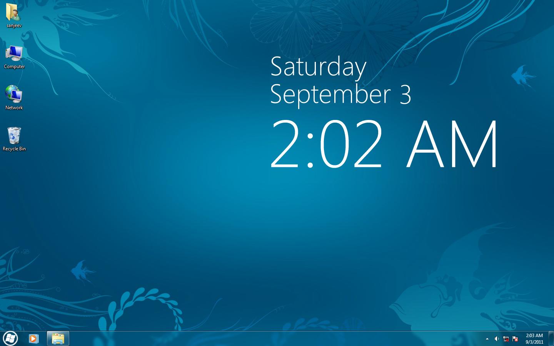 Digital clock wallpaper for windows 8.