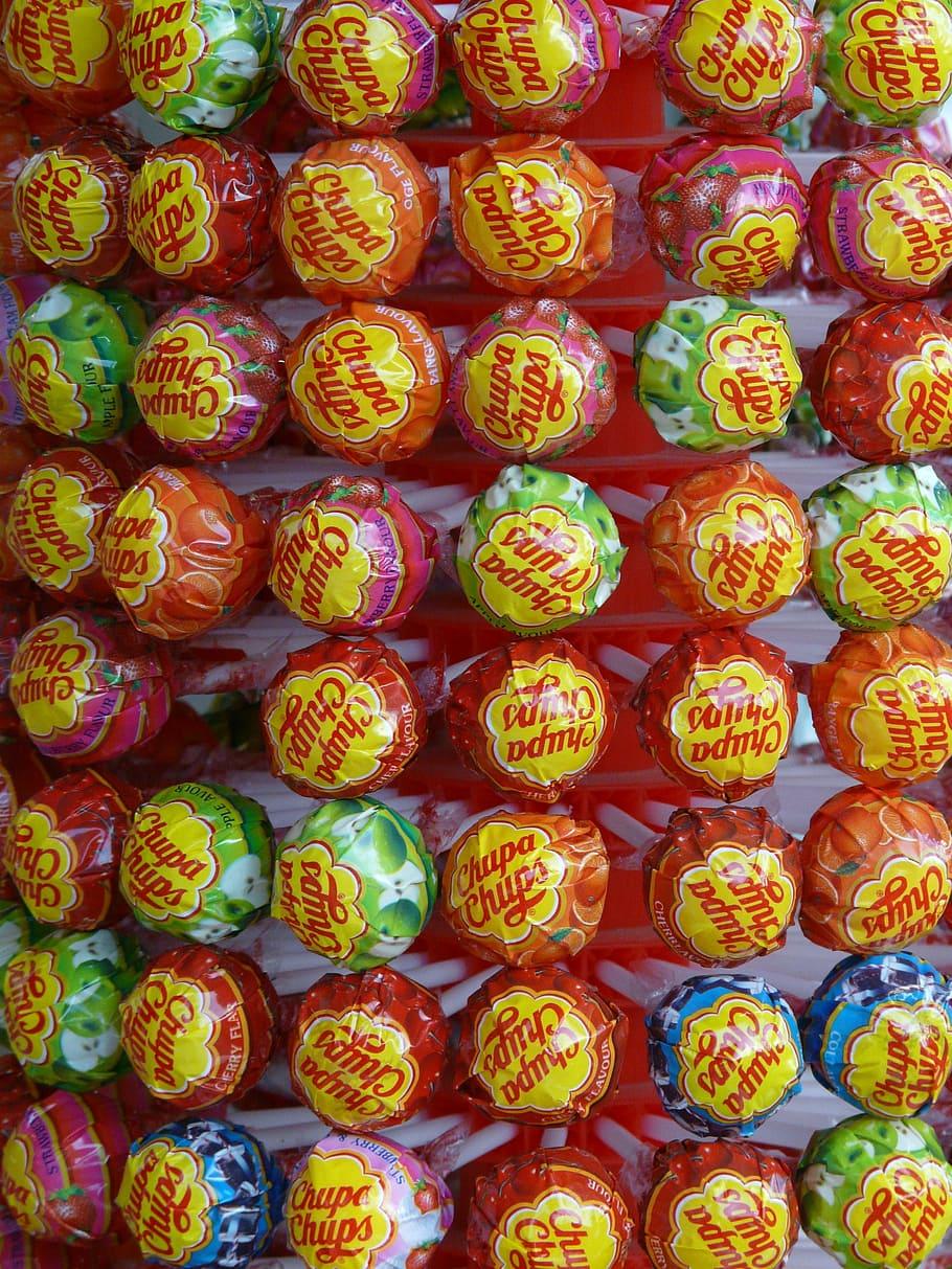 HD wallpaper Chupa Chups lollipop lot sweetness lollipops 910x1213