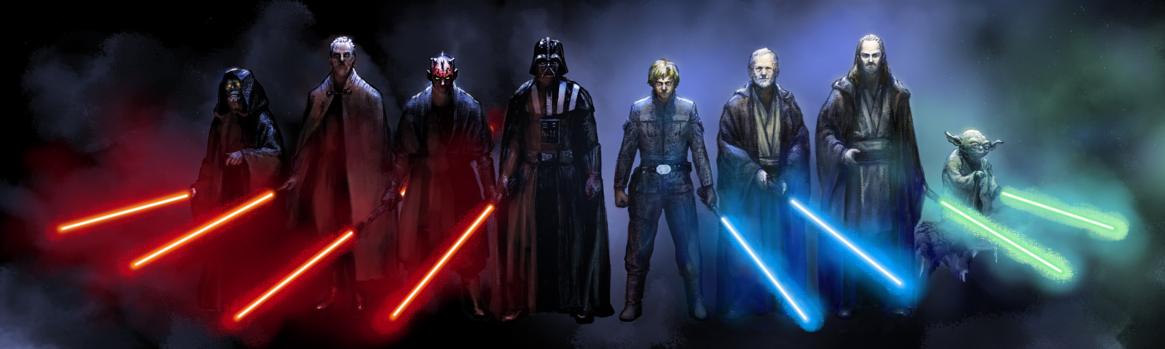 Star Wars Jedi Vs Sith Wallpaper 8 4000x1200