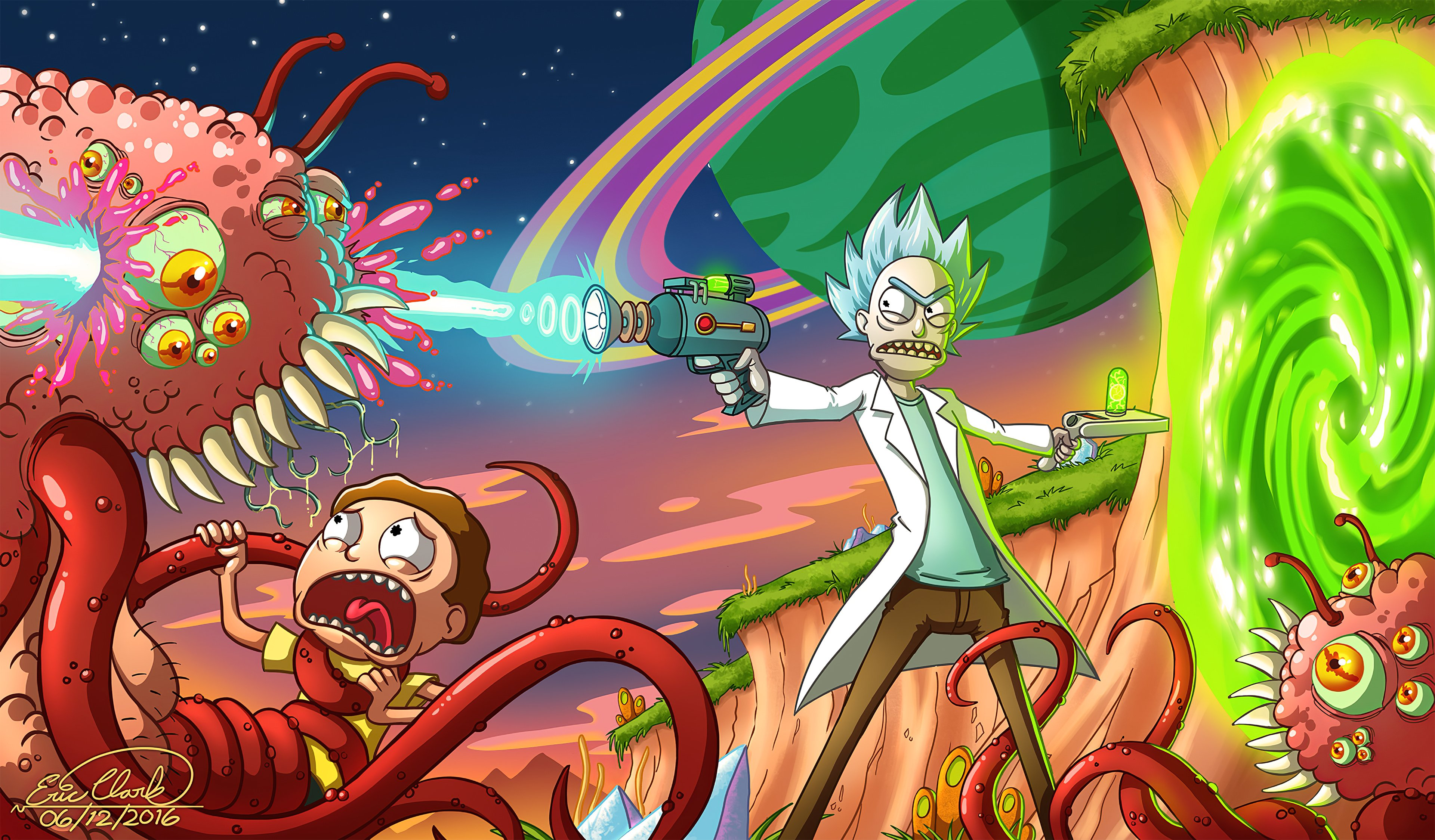 Wallpaper 4k Rick And Morty Smith Adventures Rick And Morty 4k 3840x2249