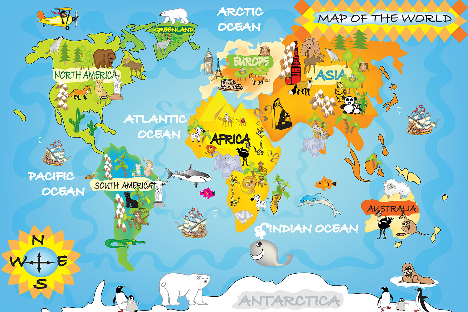 Free Download Shop Maps Childrens World Map 1500x1000 For Your