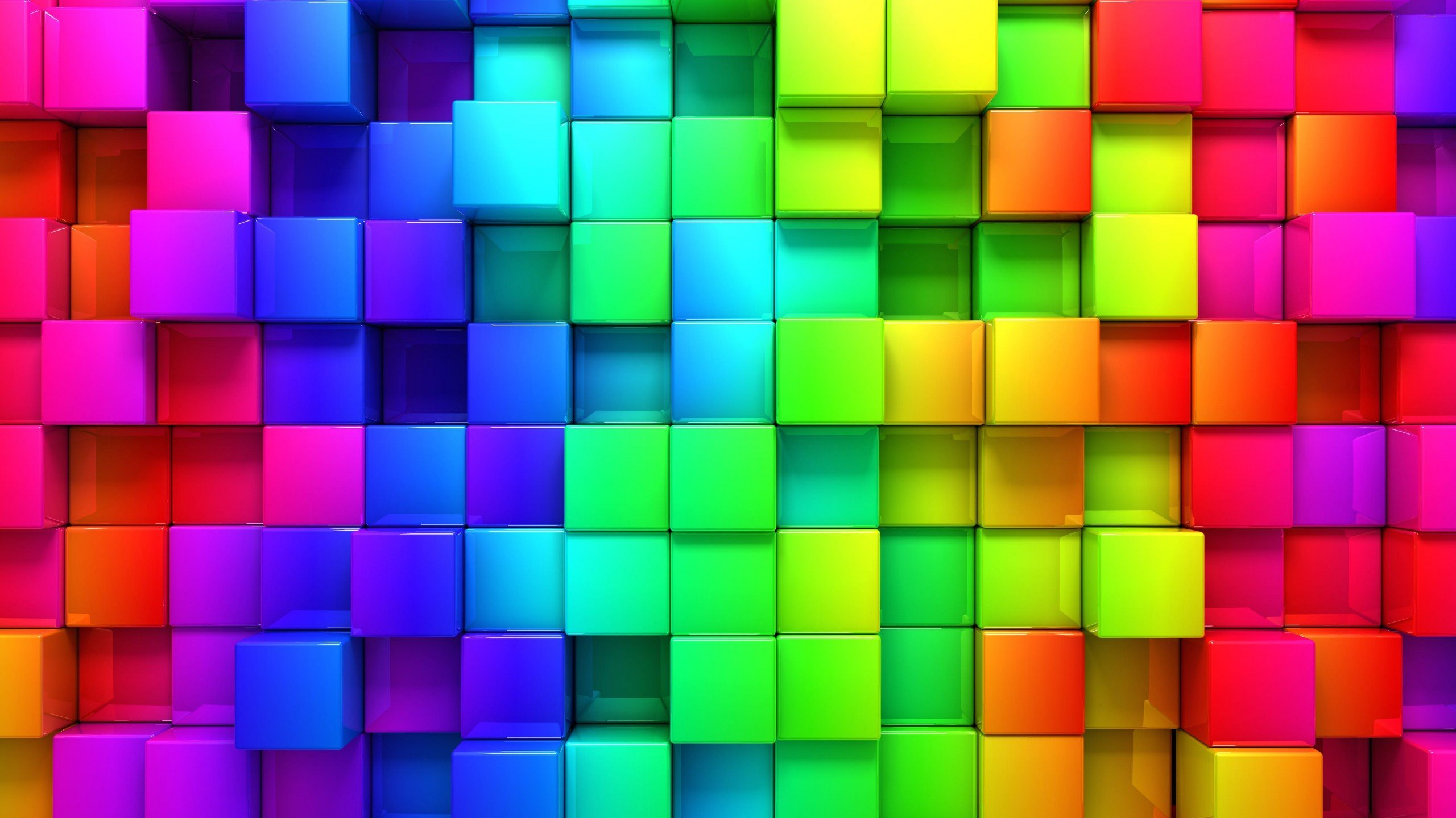 Download Cubic Rainbow HD wallpaper for 2560 x 1440   HDwallpapersnet 2560x1440