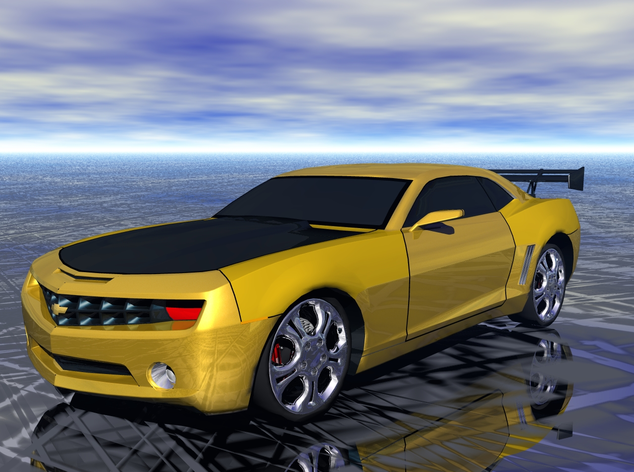Computer wallpaper desktop wallpaper camaro 2008   Bumblebee 1280x954