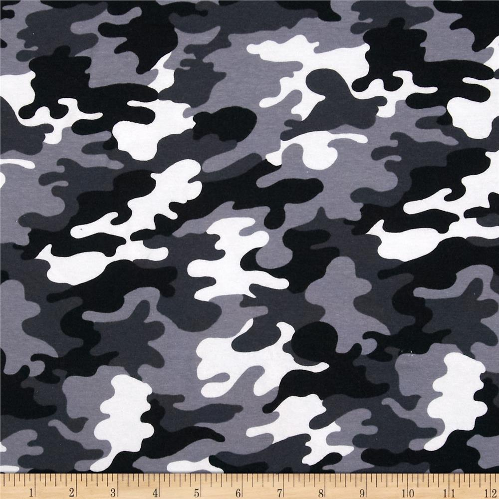 Black And White Camouflage Knit camouflage black 1000x1000