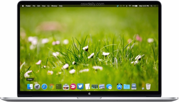 Change the Desktop Wallpaper Automatically in Mac OS X 610x348