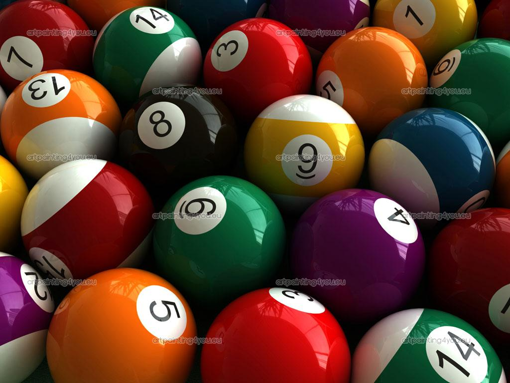 Billiard Balls 1024x768