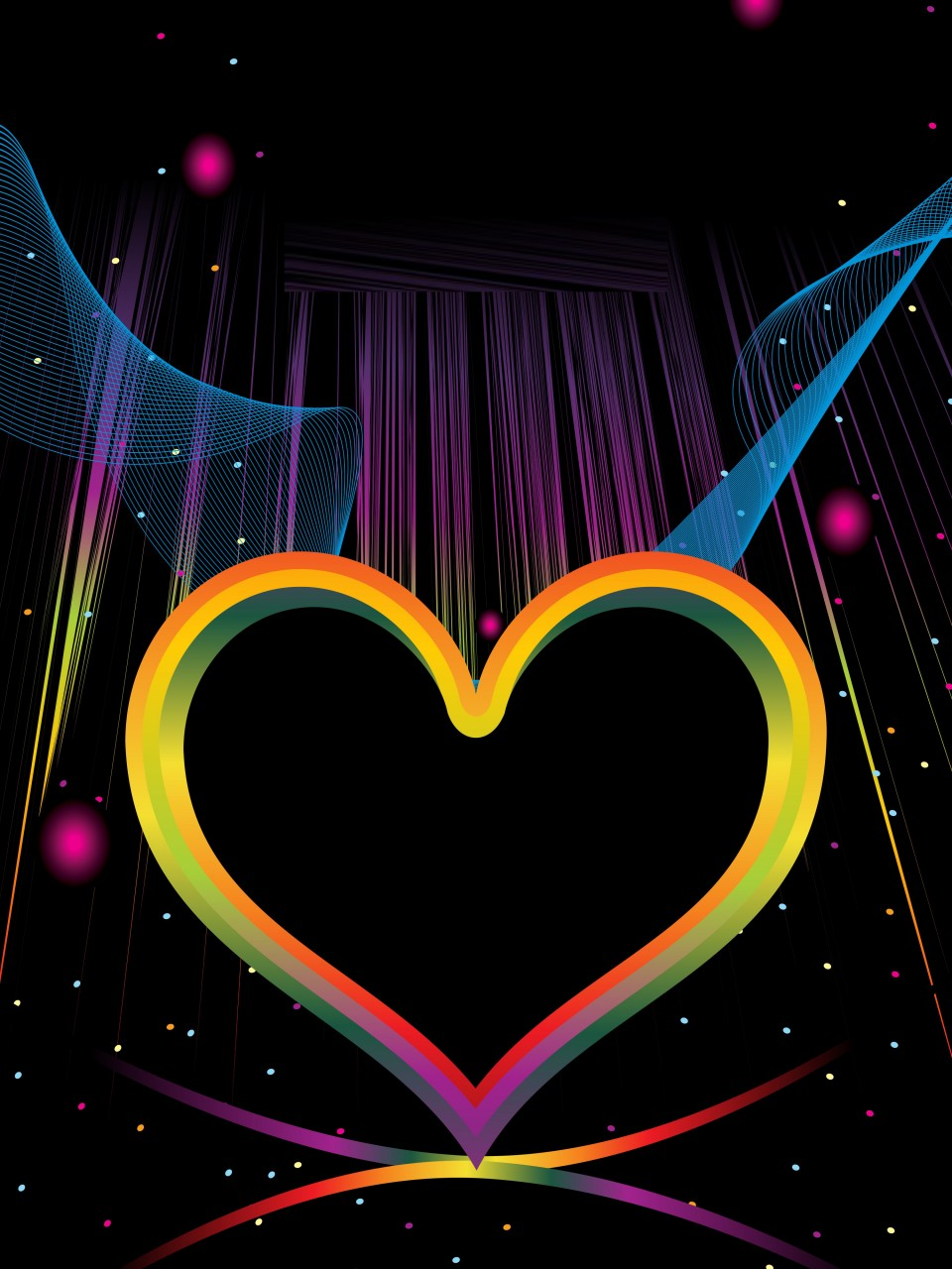 Colorful Hearts Wallpaper - WallpaperSafari