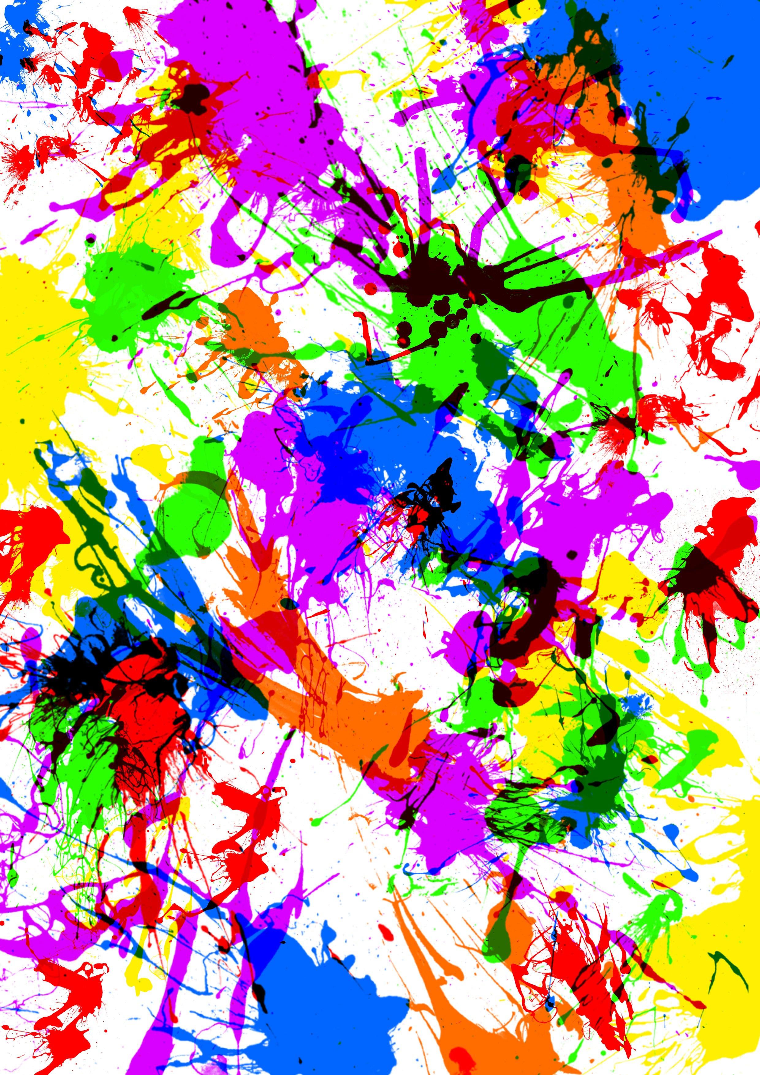 [48+] Neon Splatter Paint Wallpaper on WallpaperSafari