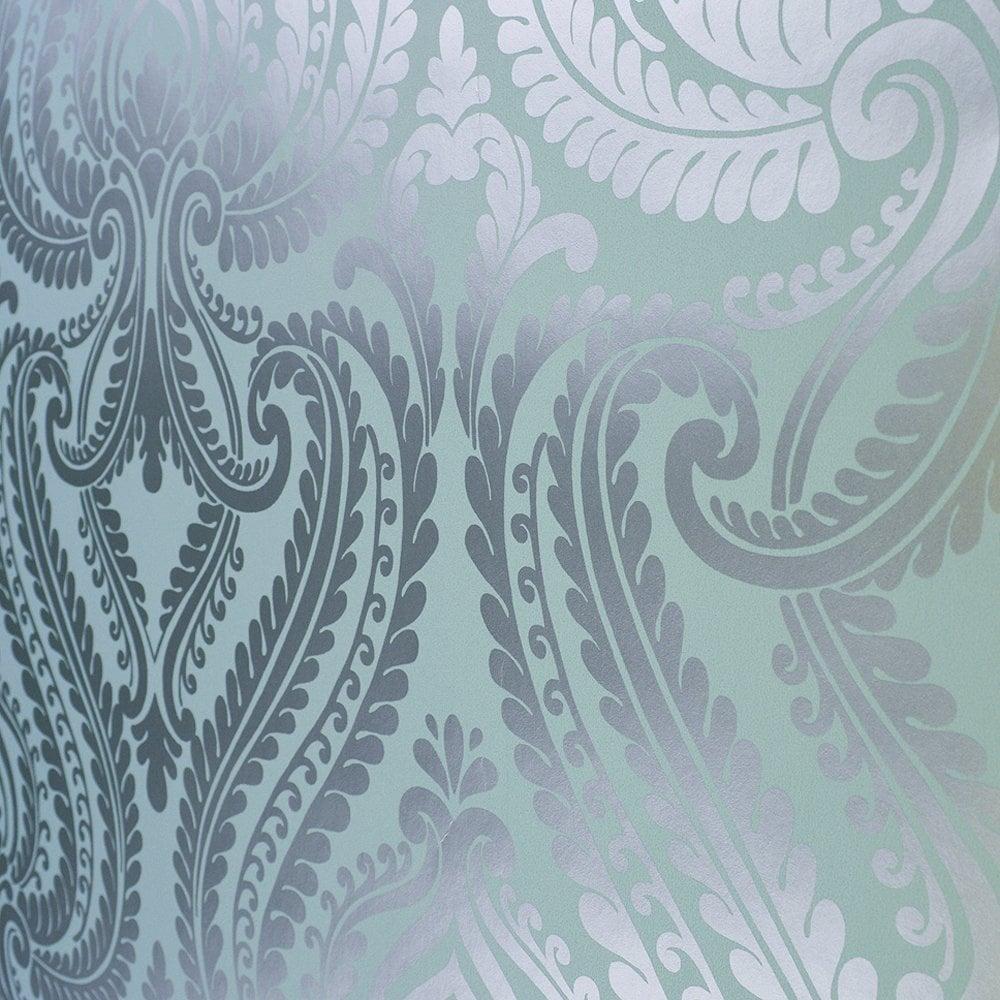 Teal And Silver Wallpaper Wallpapersafari