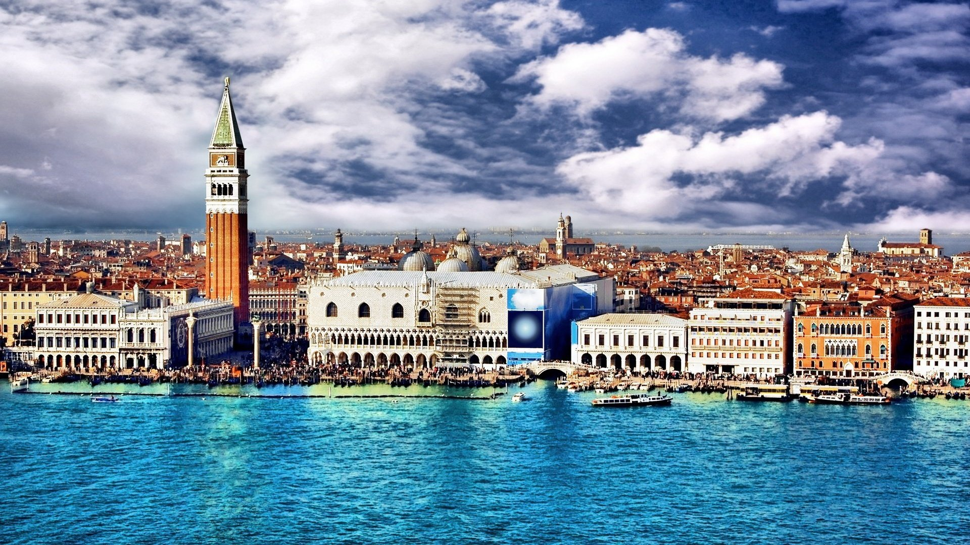 Wallpaper italy venice italy venice water sky clouds city 1920x1080