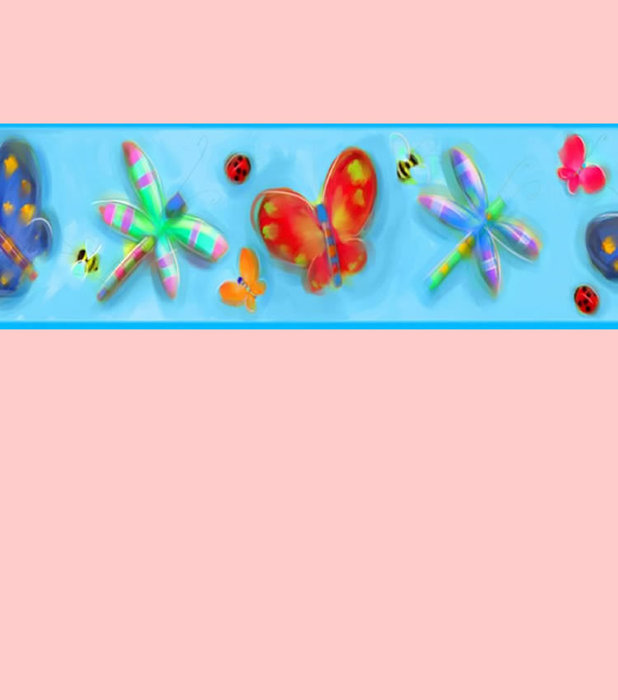 Childrens Rooms Butterfly Butterfly Wallpaper Border 618x700