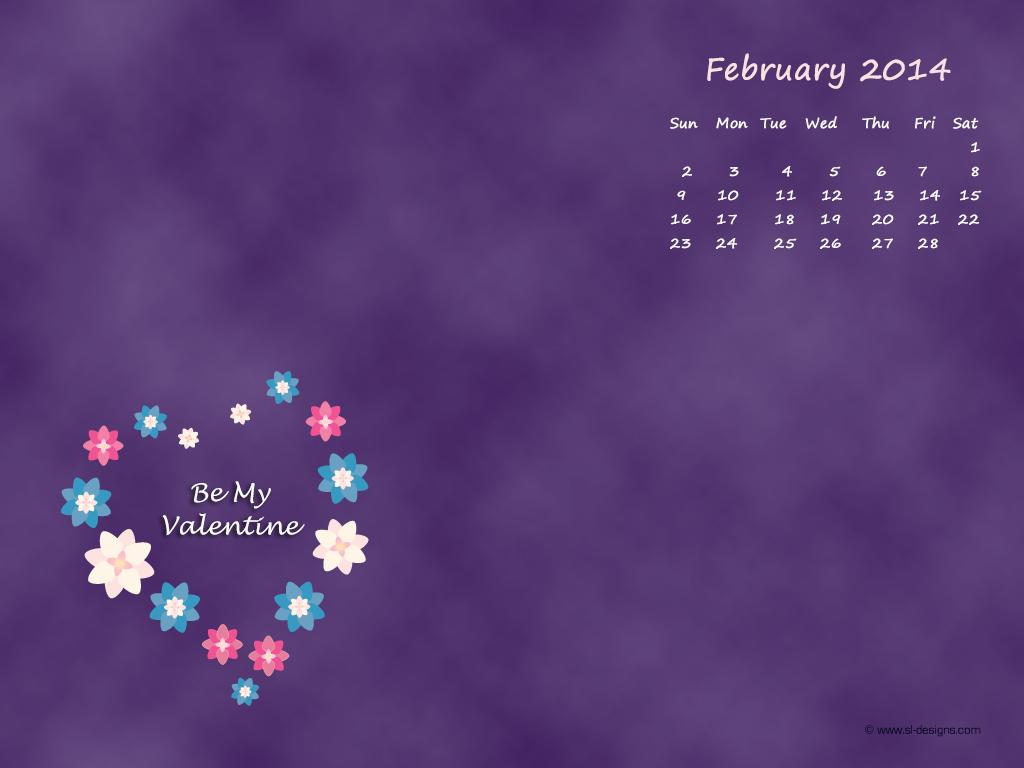 February 2012 Wallpaper Calendar 1024x768