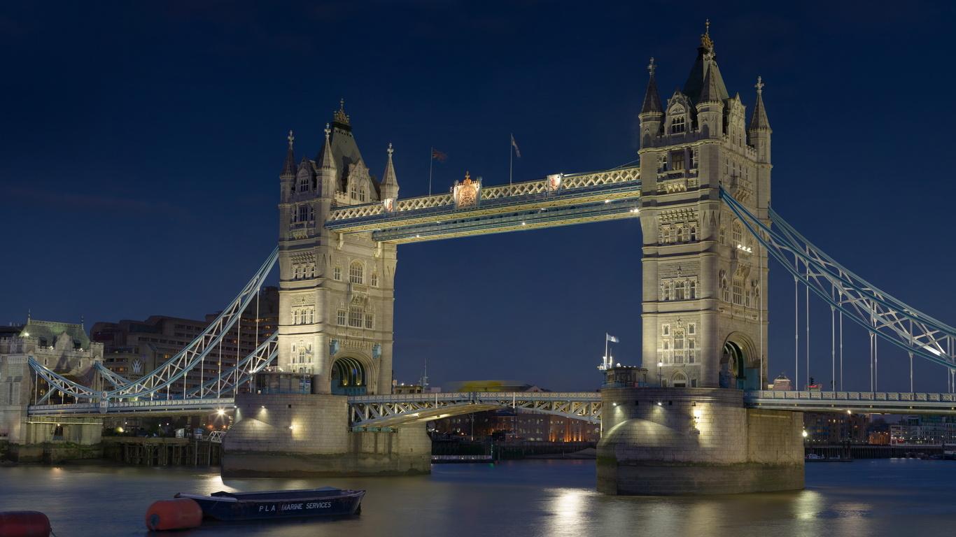 Londres el Tower Bridge Reino Unido Gran Bretaa el Tmesis 1366x768