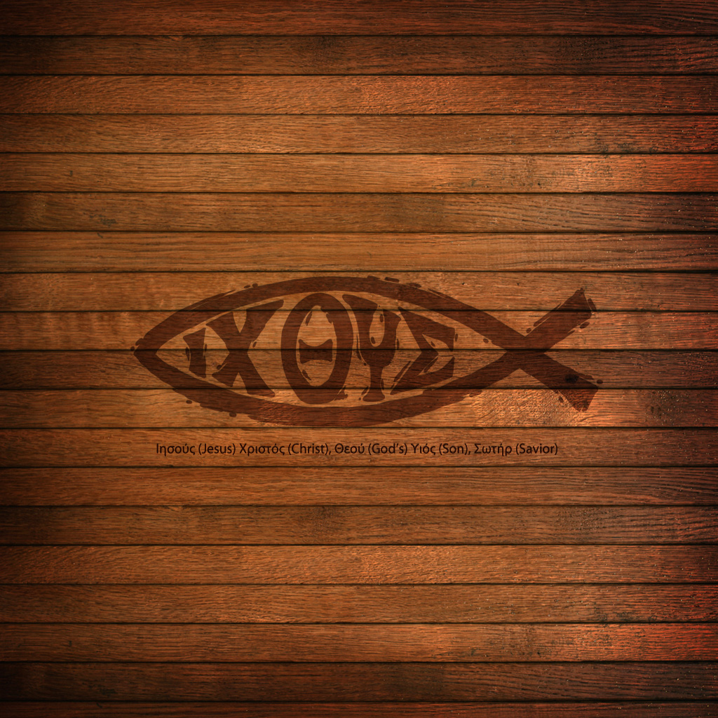 Ichthys Ichthus Ipad Scripture Christian Bible Lock Screen Wallpaper 1024x1024