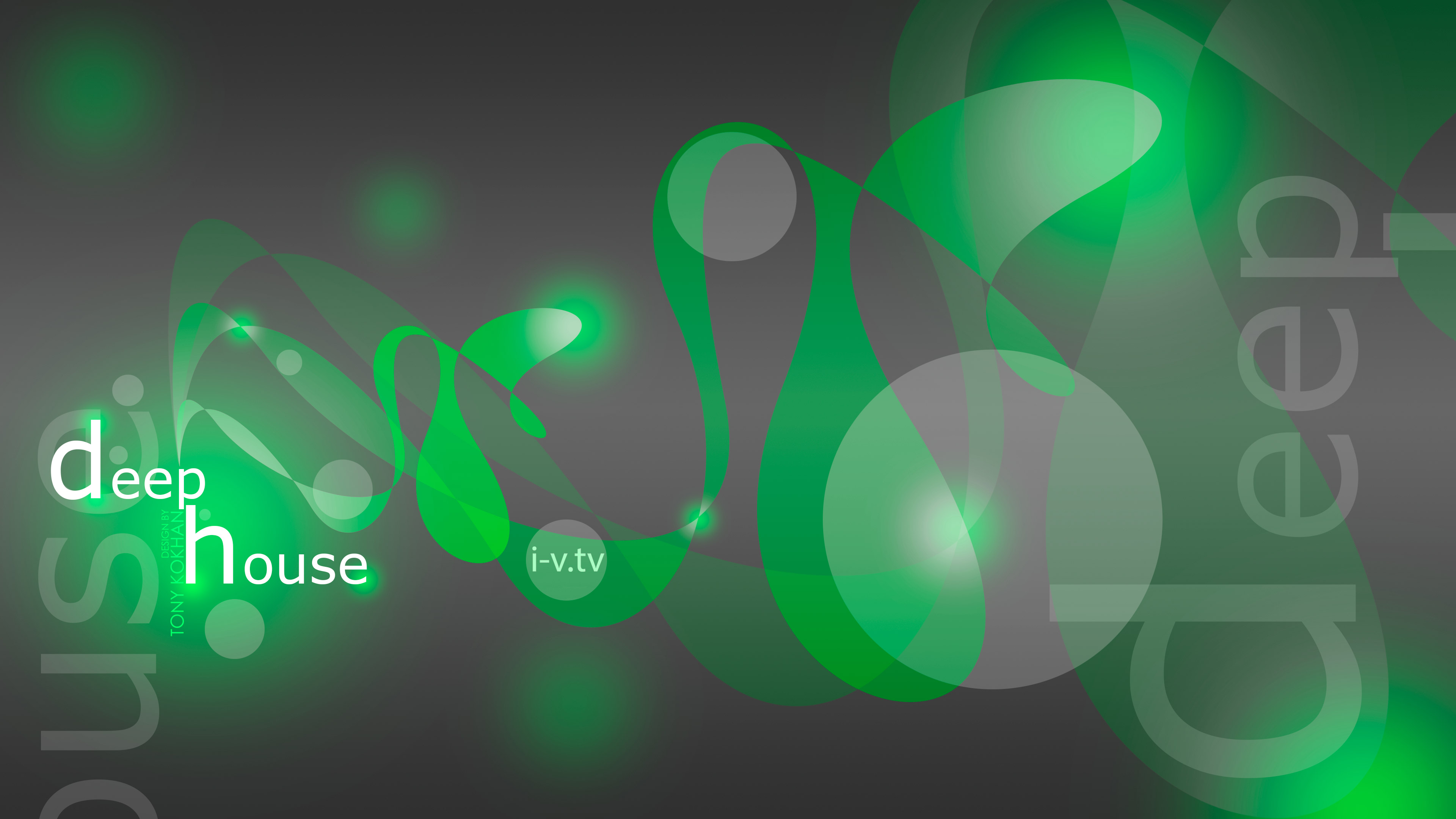 Deep House Music eQ Abstract Image Sound Plastic Style 3840x2160