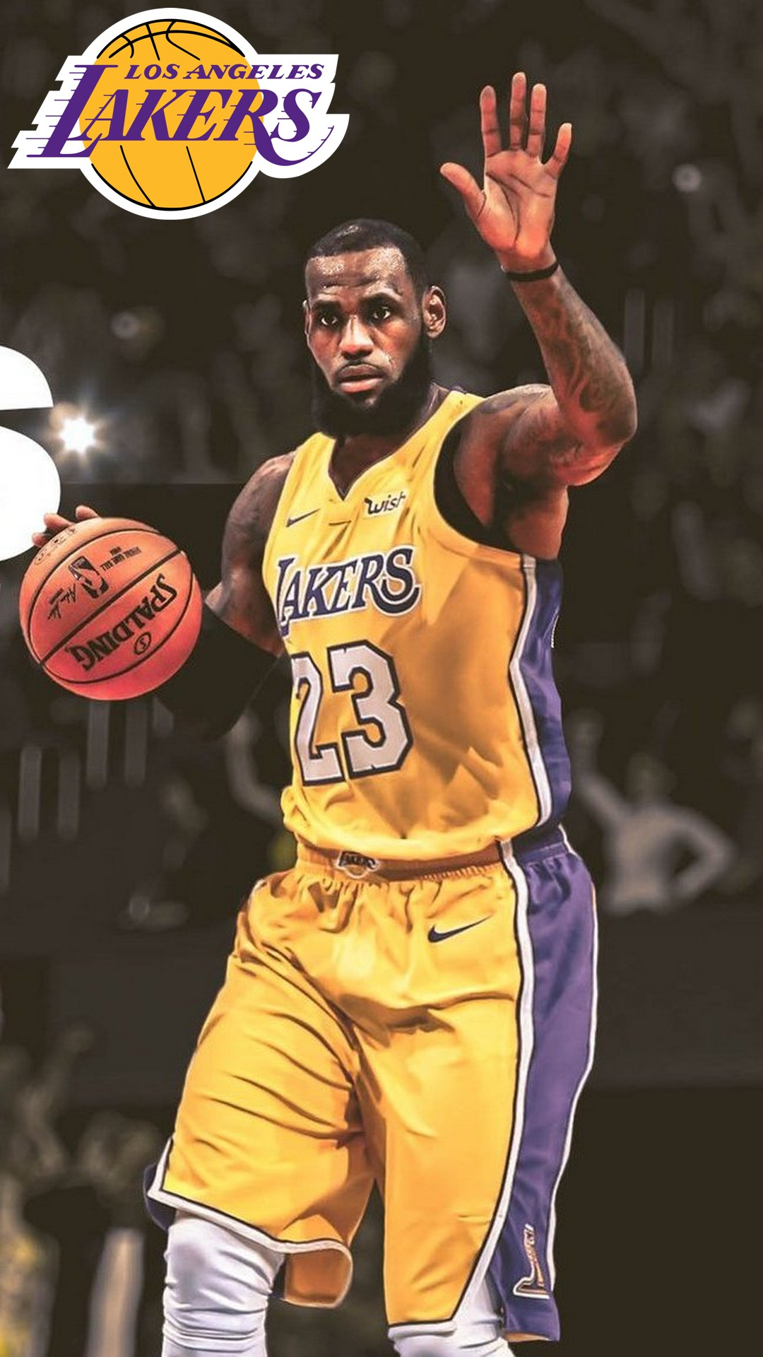 LA Lakers LeBron James HD Wallpaper For iPhone 2020 Basketball 1080x1920