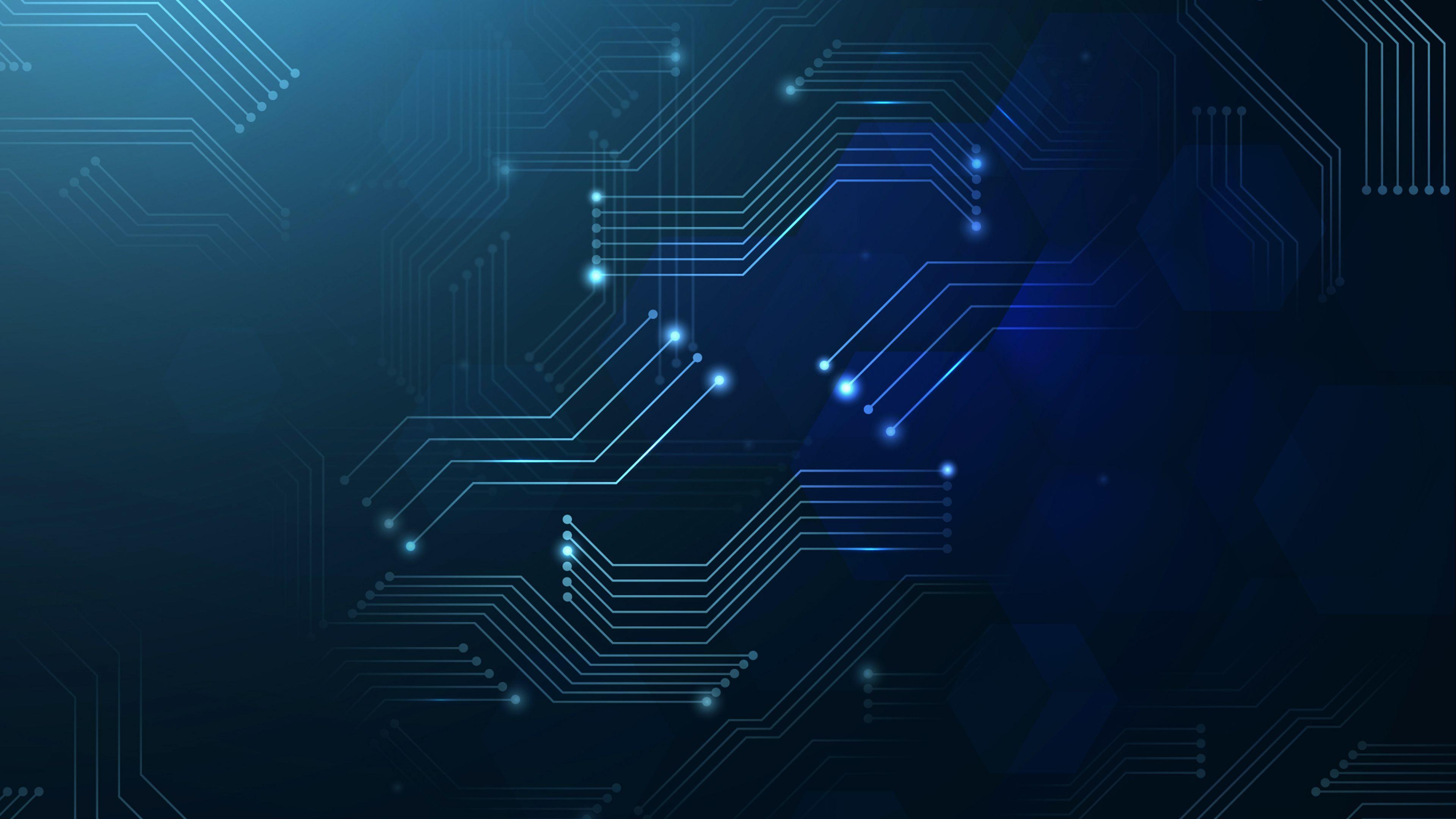 Blue Tech Wallpapers   Top Blue Tech Backgrounds 3840x2160