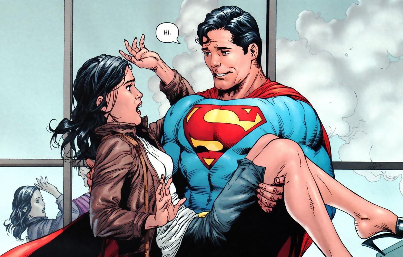 Wallpaper Girl Smile Girl Costume Hero Superman Comic Cloak 1332x850