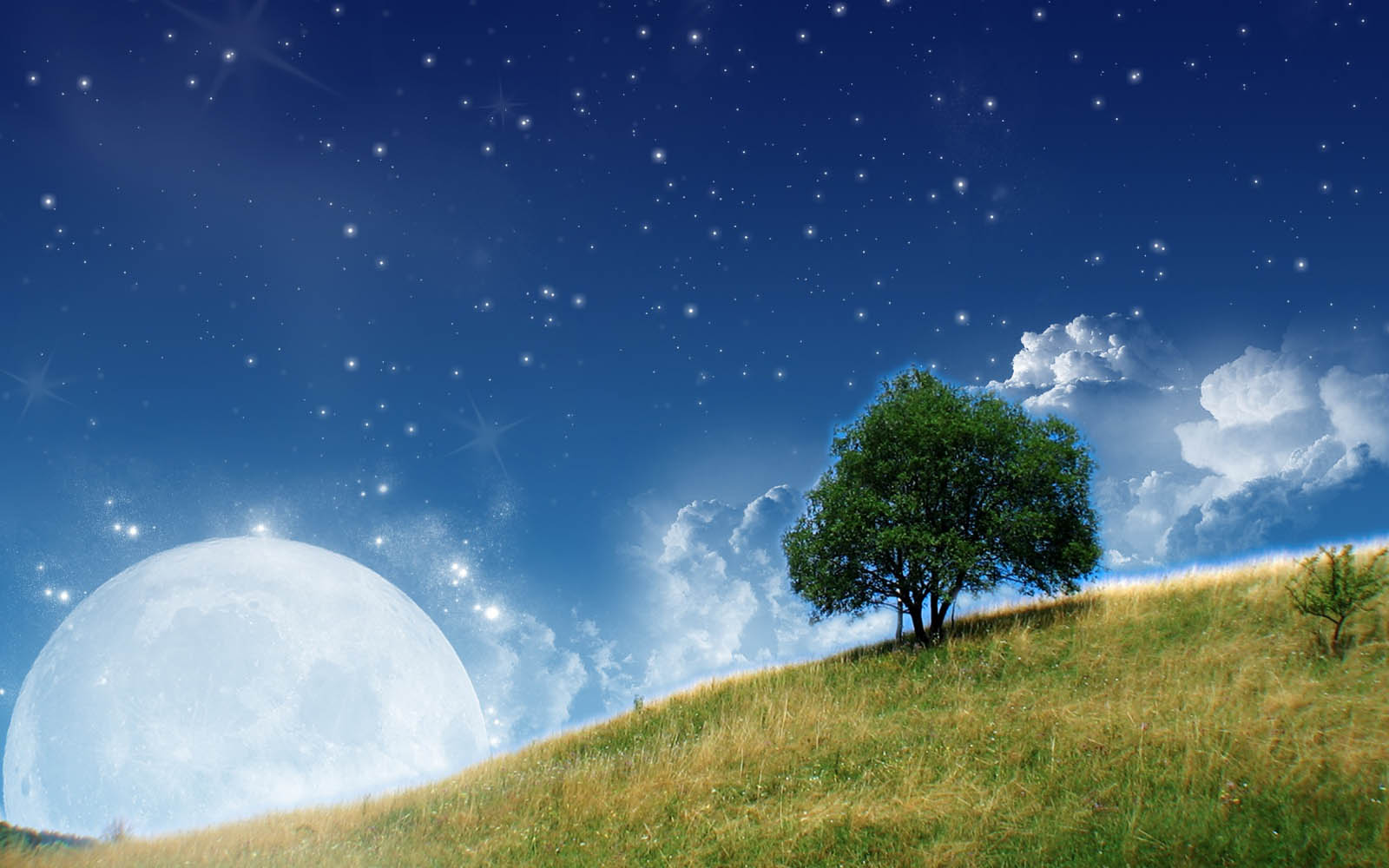 Moon Nature Wallpapers Desktop Wallpaper 1600x1000