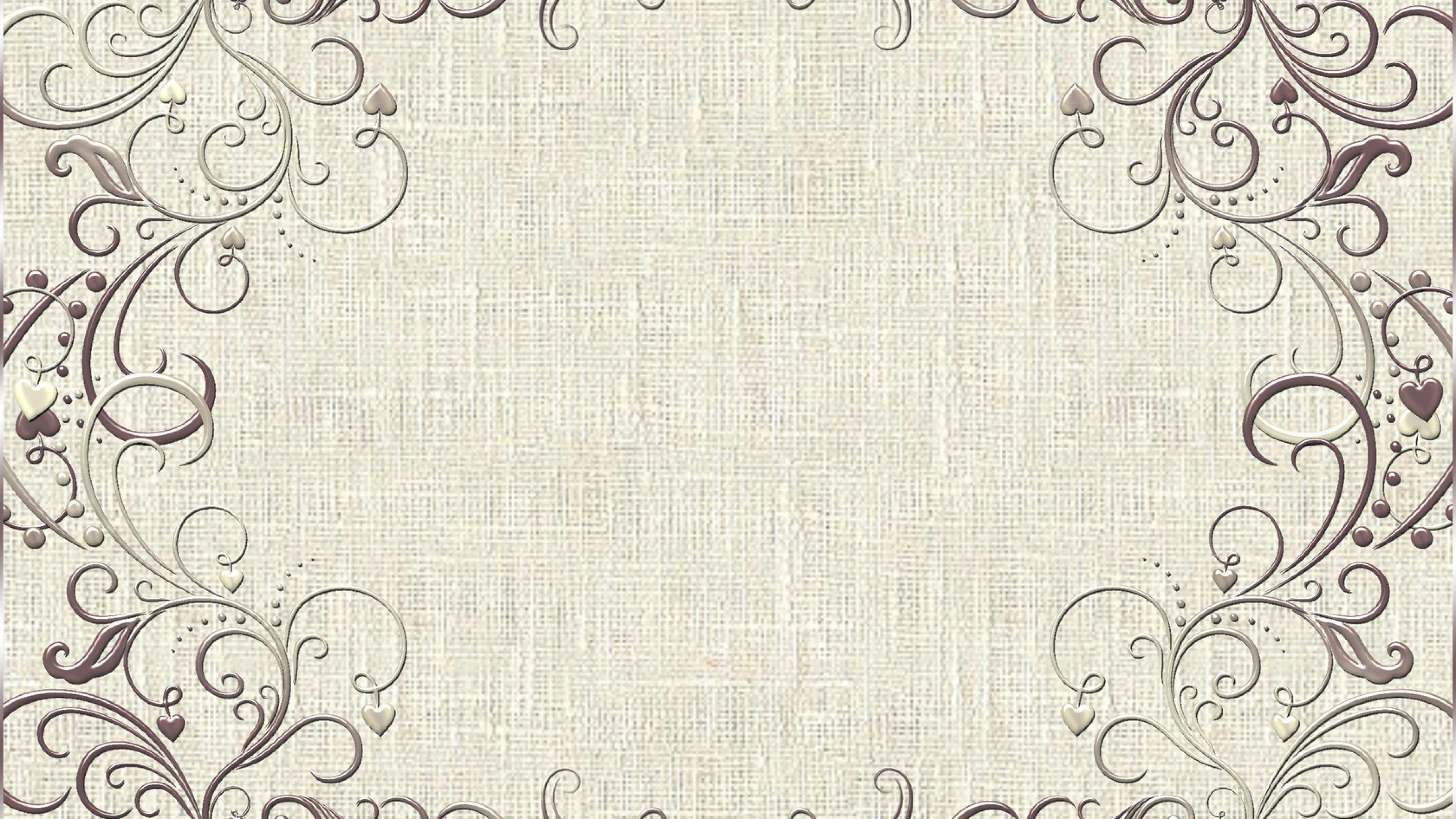background vintage frame design pattern wallpaper wallpapers byte 3840x2160
