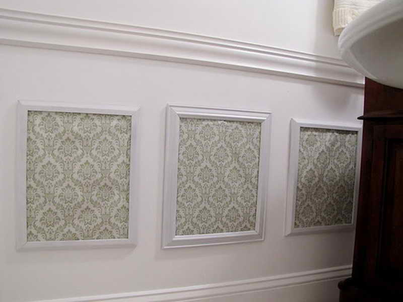 Wallpaper Wainscoting Panels