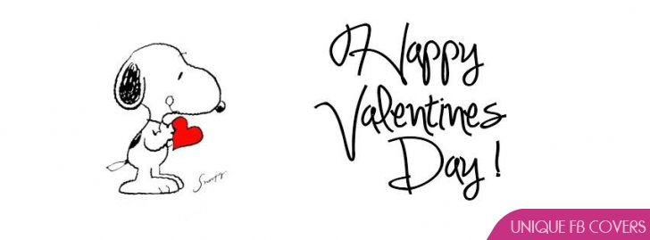 Snoopy Valentines Day Facebook Covers Facebook Covers Valentines Day 728x269