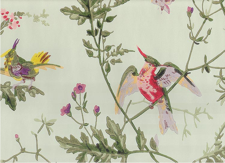wallpaper with birds I found this on a site called fabricsandpapers 751x546