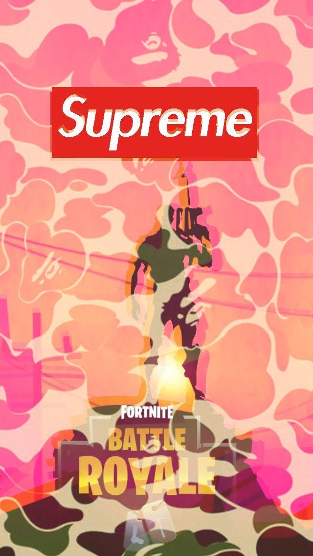 Pin by Adel Carim on Fortnite Supreme wallpaper Supreme logo 640x1138