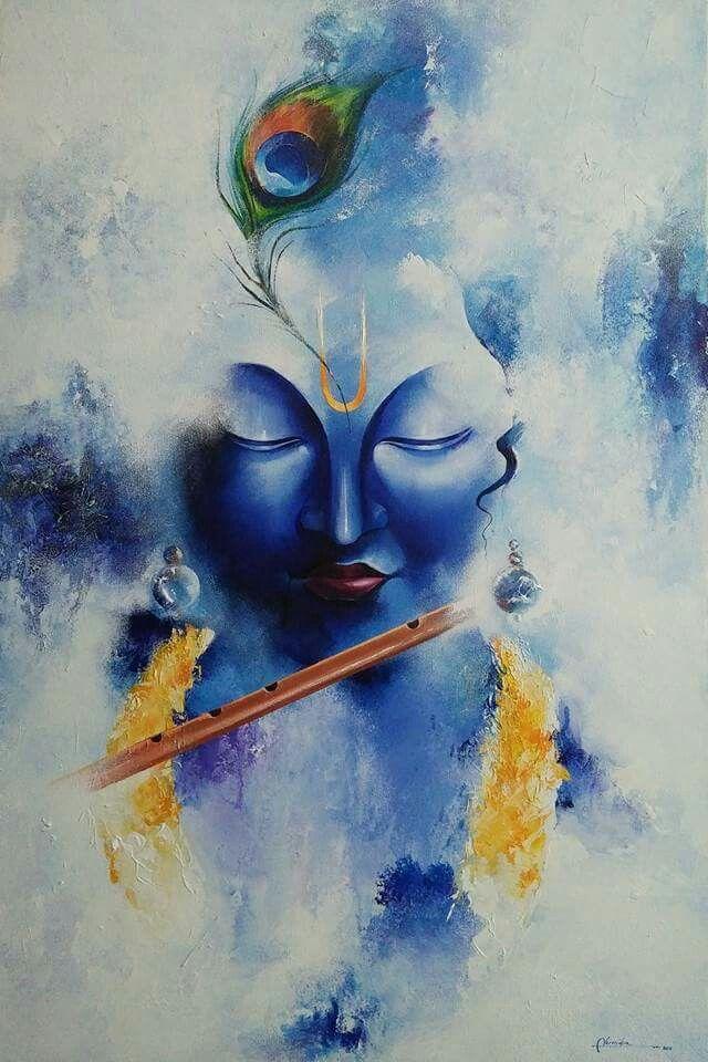 Krishna soulful painting Krishna images in 2019 Krishna 640x960