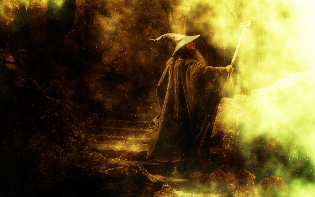 Lord of the Rings Gandalf Laptop Wallpaper 1280x800
