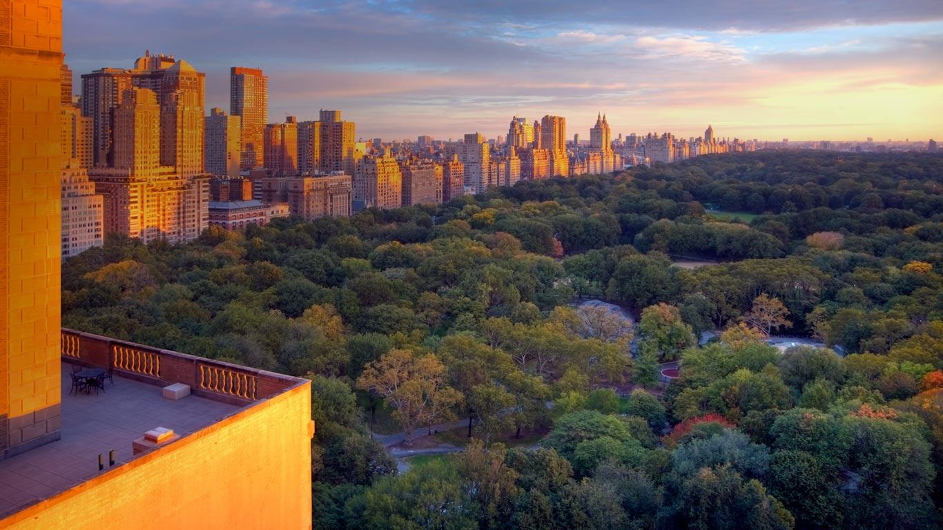 Bing Images   Central Park View   Central Park Manhattan New York 1366x768