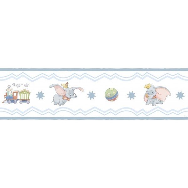 Wallpaper Dumbo Blue Border 12 Fascinating Kids Room Wall Borders 600x600