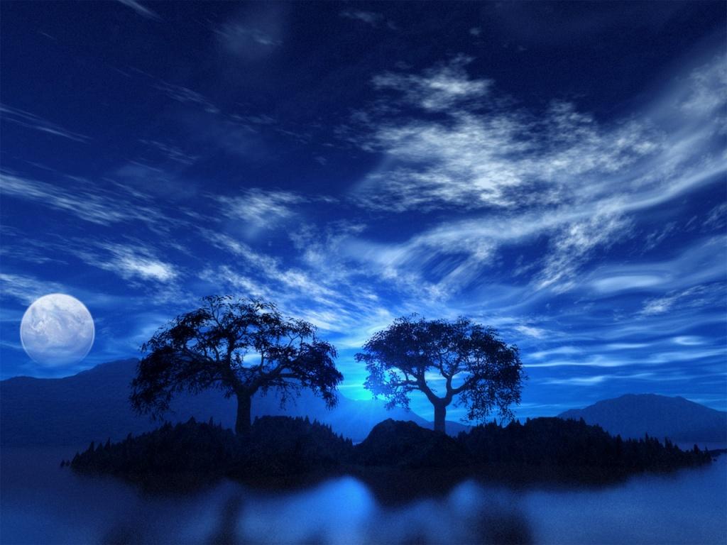 SUN SHINES blue sky wallpaper 1024x768