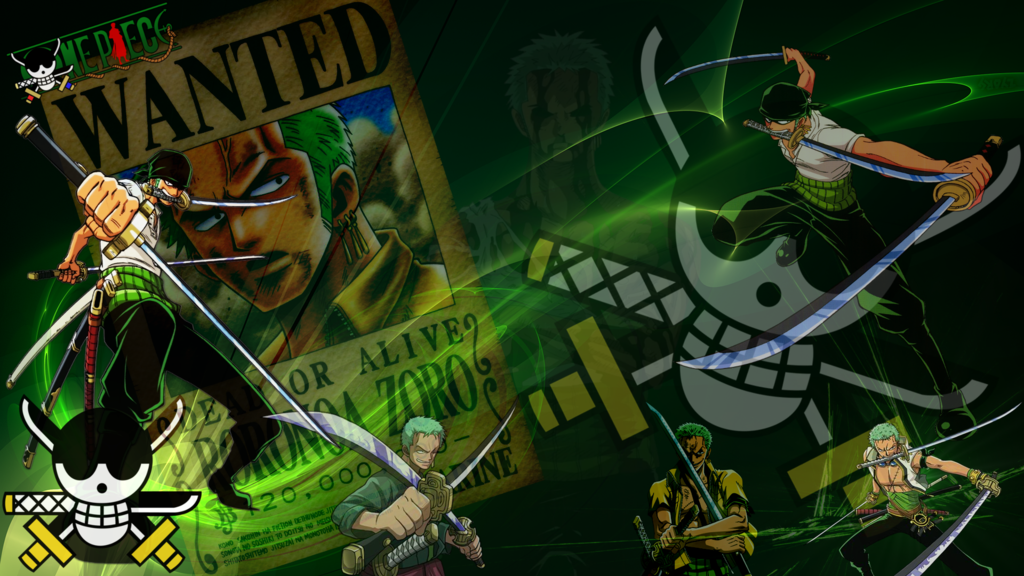 One Piece   Zoro Wallpaper HD by FairyTail666 1024x576