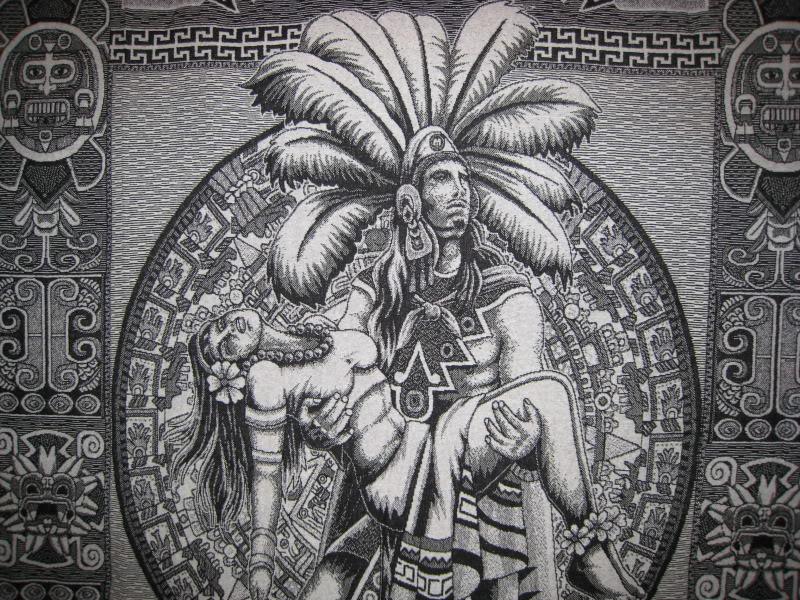 Cool Warrior Aztec Princess Drawing
