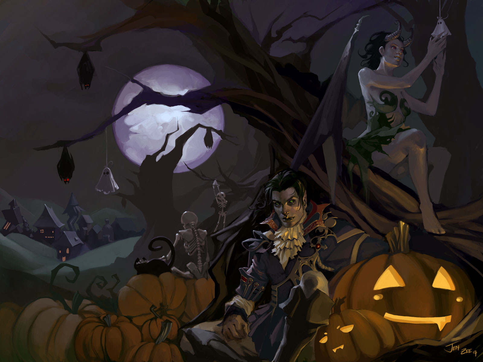 Halloween Special 40 Spooky Wallpapers   noupe 1600x1200