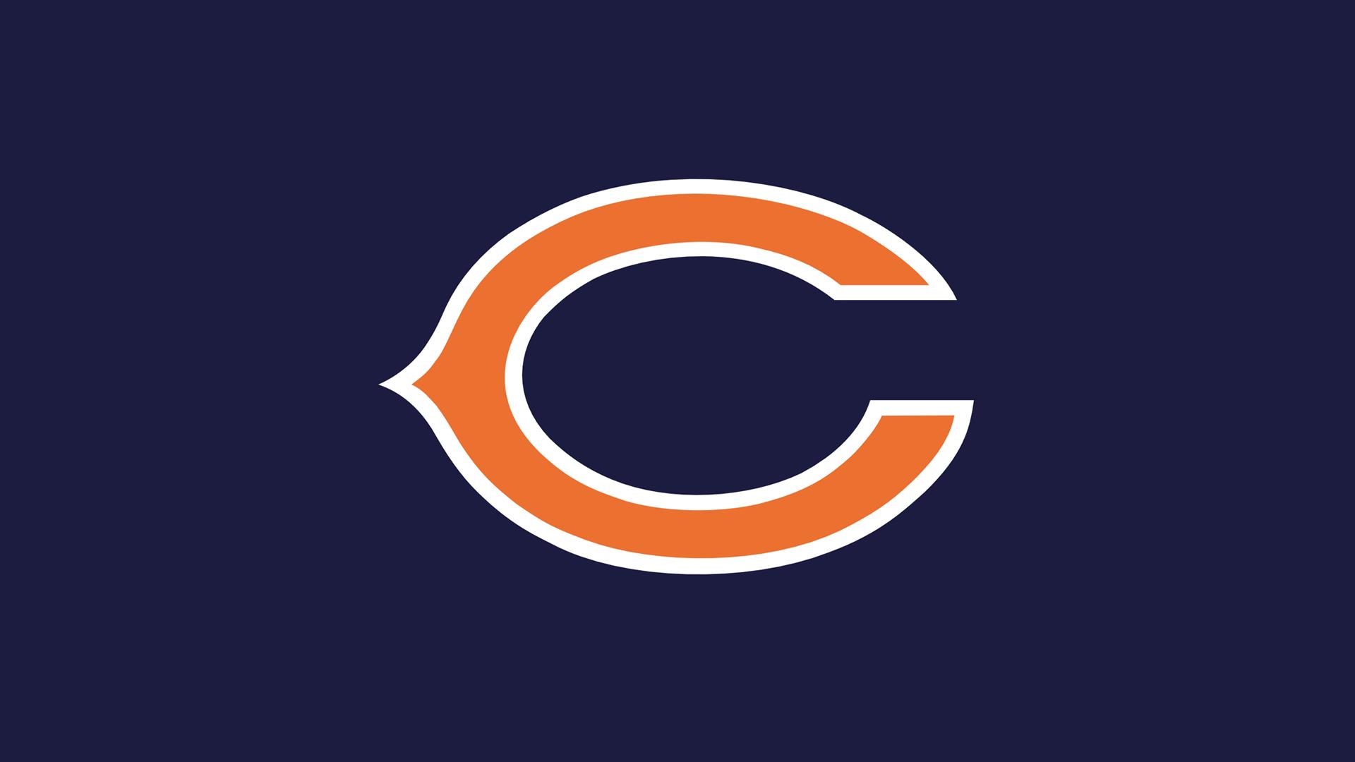 Navy Football Logo Wallpaper Nfl chicago bears c logo dark 1920x1080